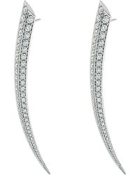 Shaun Leane | Metallic Sabre 18ct White-gold And Diamond Earrings | Lyst