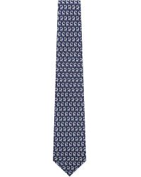 Ferragamo | Blue Hoola Hoop Giraffe Silk Tie for Men | Lyst