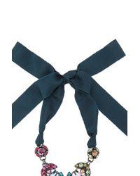 Lanvin | Blue Drop Pendant Necklace | Lyst