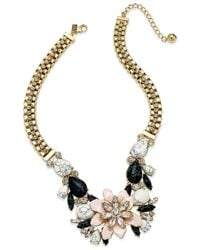 Kate Spade | Metallic Glossy Petals Statement Necklace | Lyst