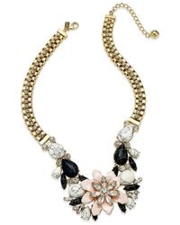 kate spade new york | Metallic Glossy Petals Statement Necklace | Lyst