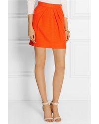 Tamara Mellon - Orange Cotton-Blend Canvas Mini Skirt - Lyst