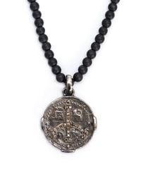 Roman Paul - Black Roman Coin Pendant Necklace for Men - Lyst