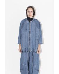 69 - Blue Medium Overcoat - Lyst