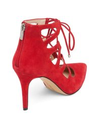 Vince Camuto | Red Bodell Lace-up Suede Sandals | Lyst