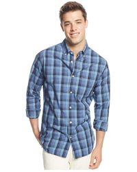 Tommy Hilfiger | Blue Redding Plaid Long-sleeve Button-down Shirt for Men | Lyst