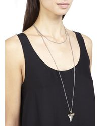 Givenchy | Metallic Silver Tone Shark Tooth Necklace | Lyst