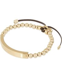 Michael Kors | Metallic Plaque Stretch Bracelet | Lyst