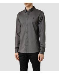 AllSaints | Gray Redondo Shirt for Men | Lyst