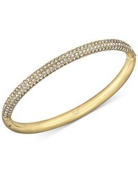 Swarovski   Metallic Gold-tone Crystal Bangle Bracelet   Lyst