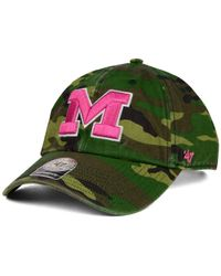 47 Brand - Green Michigan Wolverines Fashion Clean Up Cap for Men - Lyst