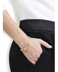 Alice Menter - Metallic Mandie Gold And Silver-plated Bracelet - Lyst