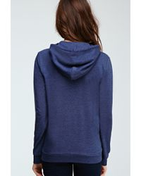 Forever 21 | Blue French Terry Hoodie | Lyst