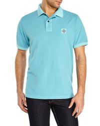 Stone Island | Blue Logo Patch Polo for Men | Lyst