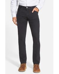 Agave | Black 'pragmatist' Straight Leg Stretch Twill Pants for Men | Lyst
