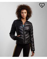 Live Love Dream | Black Lld Solid Chevron Puffer Jacket | Lyst