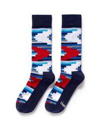 Happy Socks | Multicolor Pixelated Stripe Socks for Men | Lyst