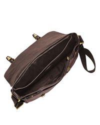 Fossil   Brown Leather Messenger Bag for Men   Lyst