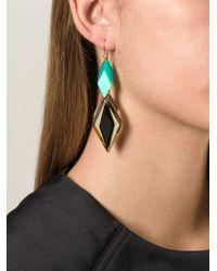 Silvia Rossi - Green 'ace' Earrings - Lyst