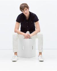 Zara | Blue Piqué Shirt for Men | Lyst