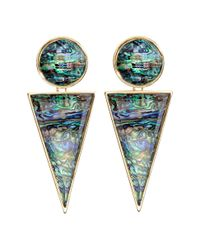 H&M | Green Large Earrings | Lyst