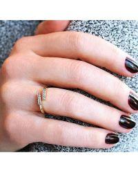 Dana Rebecca - Pink Sylvie Rose Open Bar Ring In Gold - Lyst