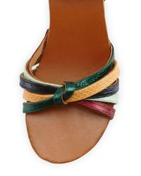 Isabel Marant - Multicolor Zia Leather Sandals - Lyst