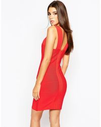 Wow Couture - Red Bandage Dress - Lyst