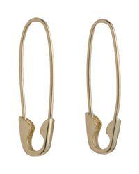 Loren Stewart | Metallic Gold Safety Pin Earrings | Lyst