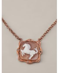 Amedeo | Metallic Horse Pendant Necklace | Lyst