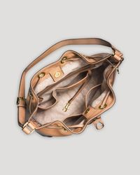 MICHAEL Michael Kors - Natural Shoulder Bag - Large Jules Colorblock Drawstring - Lyst