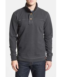 Jeremiah | Gray 'taylor' French Terry Mock Neck Pullover for Men | Lyst