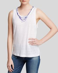 Generation Love - White Top - Beaded Necklace Tank - Lyst