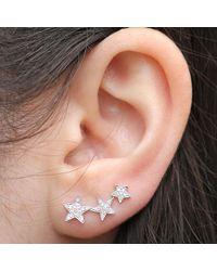 Anne Sisteron - 14kt White Gold Diamond Etoile Ear Cuff - Lyst