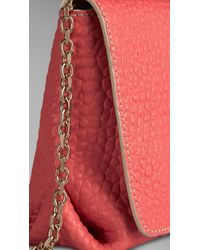 Burberry | Pink Medium Signature Grain Leather Clutch Bag | Lyst