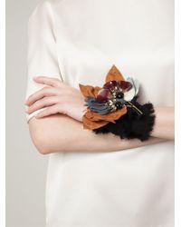 Marni - Black Floral Bracelet - Lyst