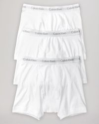 Calvin Klein | White Cotton Classics Boxer Briefs, Pack Of 3 for Men | Lyst