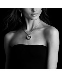 David Yurman | Metallic X Pendant with Diamonds On Chain | Lyst