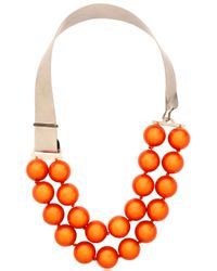 Lucia Odescalchi - Orange Euclide Necklace - Lyst