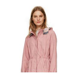 Tory Burch - Pink Anorak With Plaid Lining - Lyst