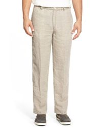 Tommy Bahama | Brown 'new Linen On The Beach' Easy Fit Pants for Men | Lyst