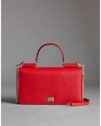 99cc9f42b6e Dolce & Gabbana Mini 'von' Shoulder Bag in Red - Lyst