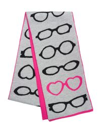 Kate Spade | Pink Glasses Knit Scarf | Lyst