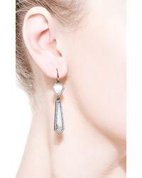 Monique Péan | Blue Fossilized Walrus and Opal Drop Earrings | Lyst