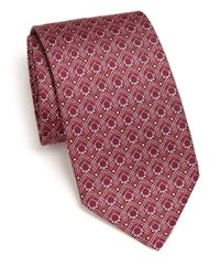 Ferragamo | Purple Diamond Dot Gancini Print Silk Tie for Men | Lyst