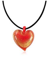 Antica Murrina | Passione - Red & Gold Murano Glass Heart Pendant | Lyst