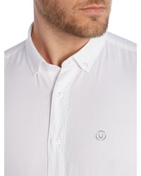 Duck and Cover | White Harris Long Sleeve Oxford Shirt for Men | Lyst
