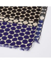 Paul Smith - Black 'Moroccan Tile' Print Silk-Blend Scarf for Men - Lyst