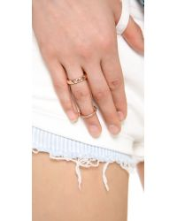 Rebecca Minkoff | Metallic Studded Chain Ring | Lyst