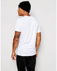 Adidas Originals - White T-shirt With Camo Print for Men - Lyst